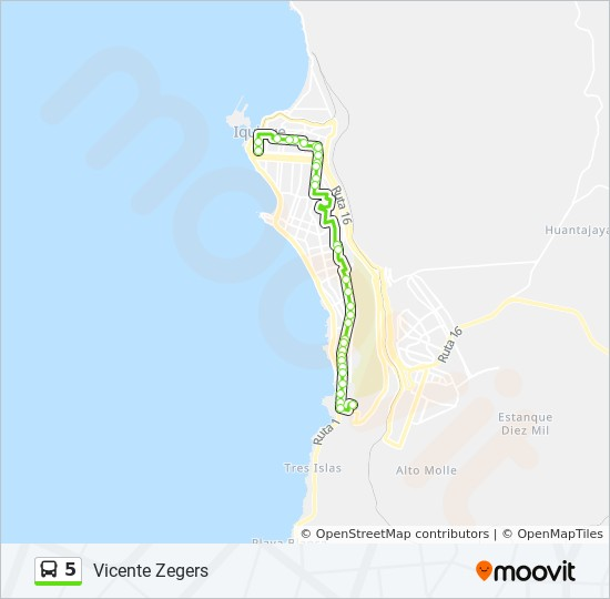 5 Route: Time Schedules, Stops & Maps - Vía Dos