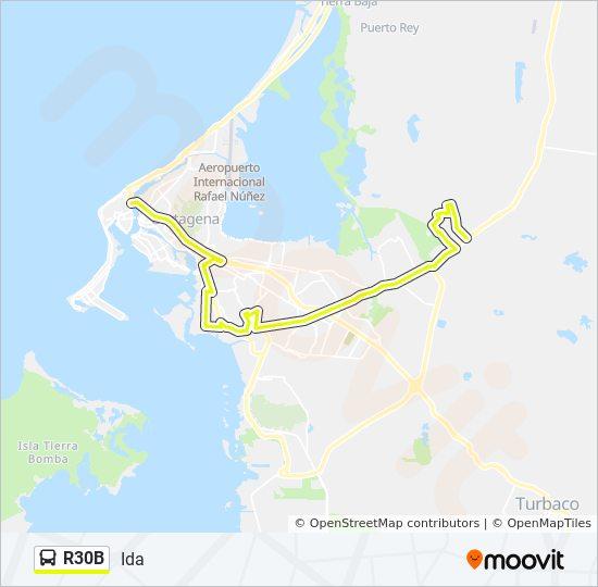 Línea R30b Horarios Mapas Y Paradas Ida