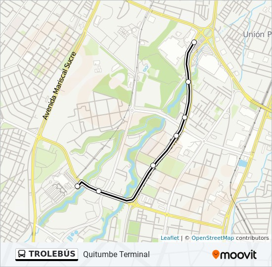 TROLEBÚS Route: Time Schedules, Stops & Maps - Quitumbe Terminal