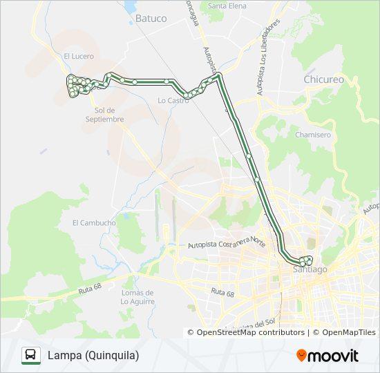 Linie Lampa Batuco Fahrplane Haltestelle Karten Lampa Quinquila