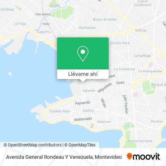 Mapa de Avenida General Rondeau Y Venezuela