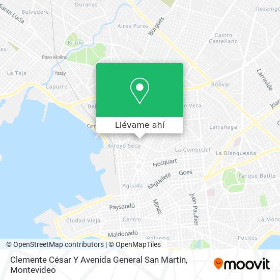 Mapa de Clemente César Y Avenida General San Martín
