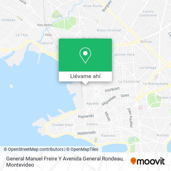 Mapa de General Manuel Freire Y Avenida General Rondeau