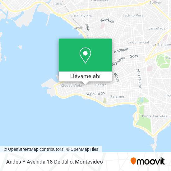 Mapa de Andes Y Avenida 18 De Julio