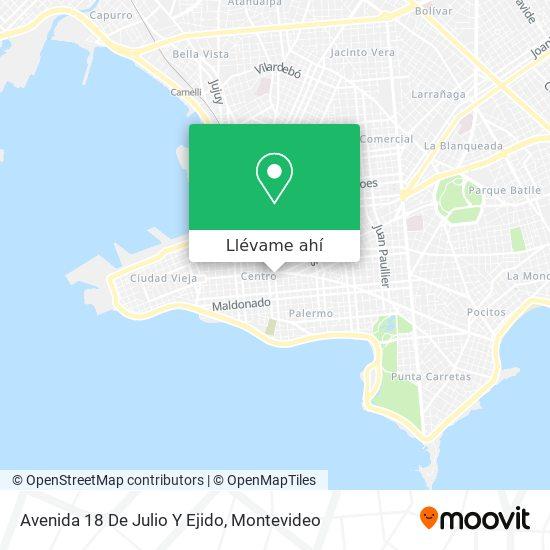 Mapa de Avenida 18 De Julio Y Ejido