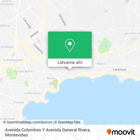 Mapa de Avenida Colombes Y Avenida General Rivera