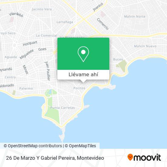 Mapa de 26 De Marzo Y Gabriel Pereira