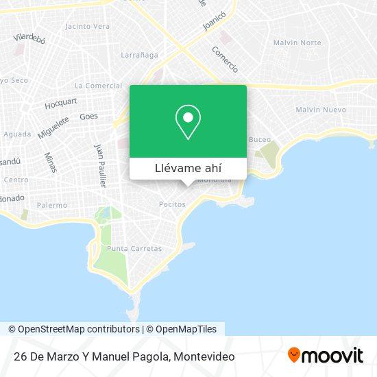 Mapa de 26 De Marzo Y Manuel Pagola