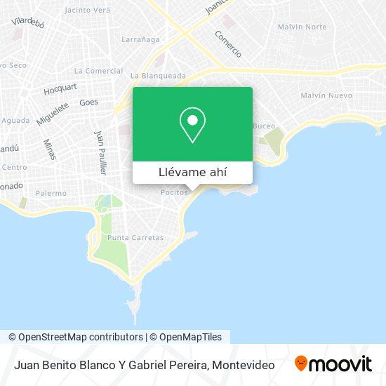 Mapa de Juan Benito Blanco Y Gabriel Pereira