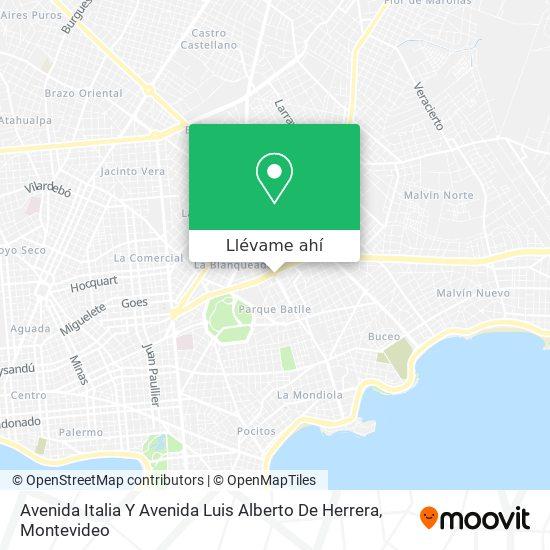 Mapa de Avenida Italia Y Avenida Luis Alberto De Herrera