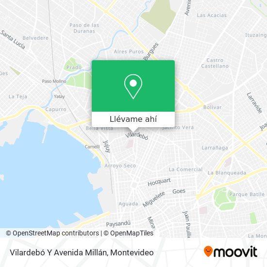 Mapa de Vilardebó Y Avenida Millán