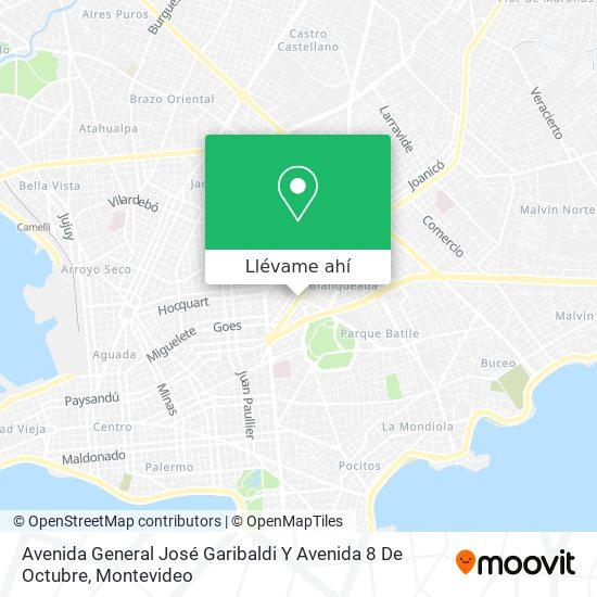 Mapa de Avenida General José Garibaldi Y Avenida 8 De Octubre