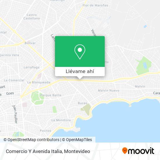 Mapa de Comercio Y Avenida Italia