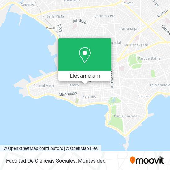 Mapa de Facultad De Ciencias Sociales