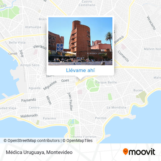Mapa de Médica Uruguaya