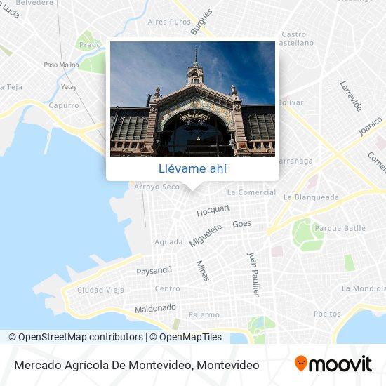 Mapa de Mercado Agrícola De Montevideo
