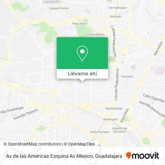 Mapa de Av de las Américas Esquina Av Mexico