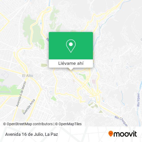 Mapa de Avenida 16 de Julio
