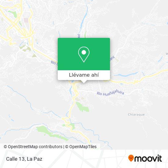 Mapa de Calle 13