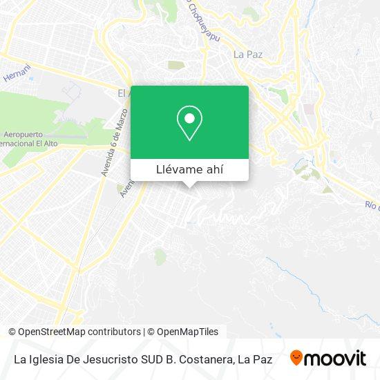 Mapa de La Iglesia De Jesucristo SUD B. Costanera