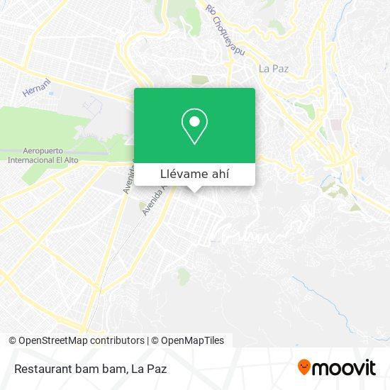 Mapa de Restaurant bam bam