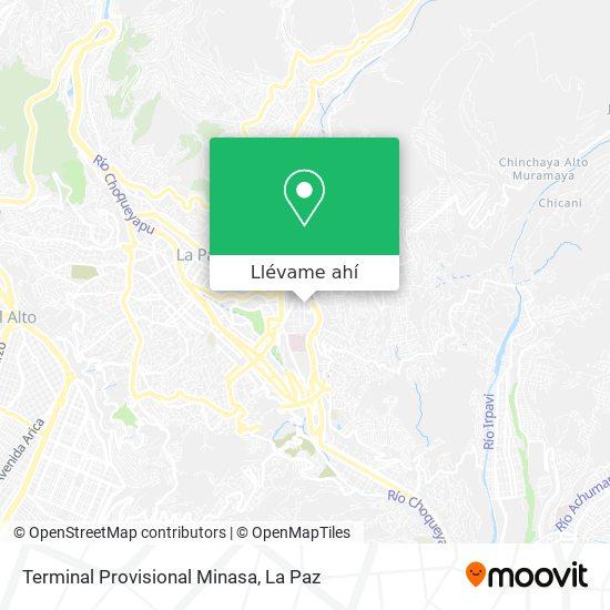 Mapa de Terminal Provisional Minasa