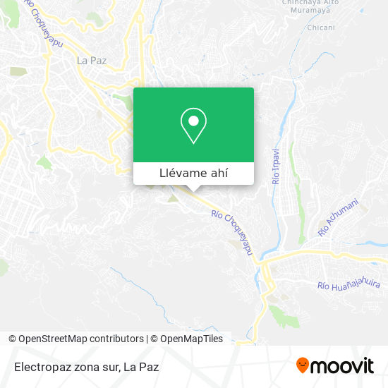 Mapa de Electropaz zona sur