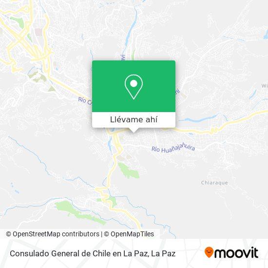 Mapa de Consulado General de Chile en La Paz
