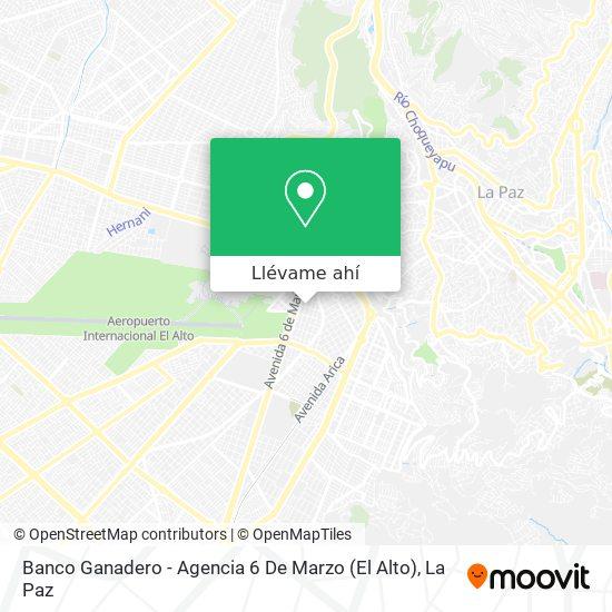 Mapa de Banco Ganadero - Agencia 6 De Marzo (El Alto)