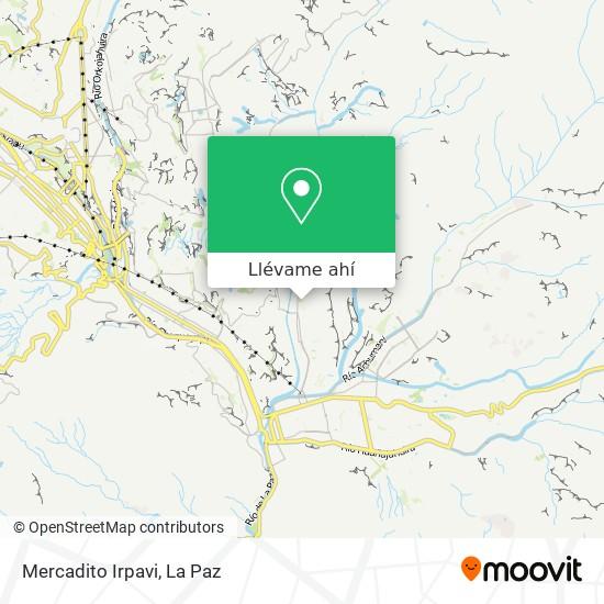 Mapa de Mercadito Irpavi