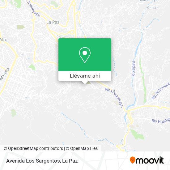 Mapa de Avenida Los Sargentos