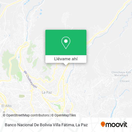 Mapa de Banco Nacional De Bolivia Villa Fátima