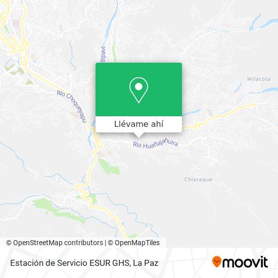 Mapa de Estación de Servicio ESUR GHS