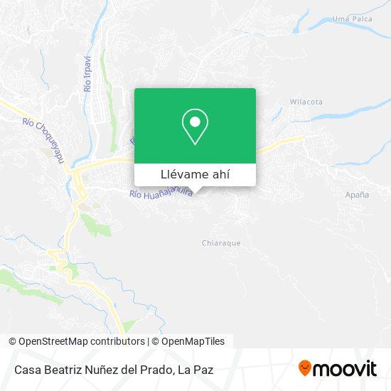 Mapa de Casa Beatriz Nuñez del Prado