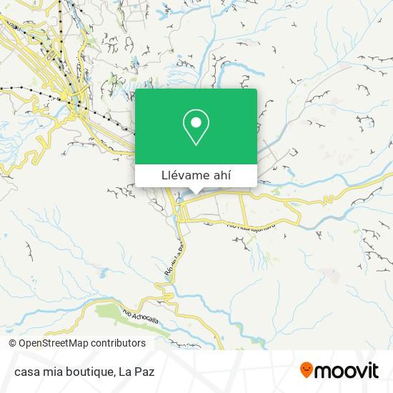 Mapa de casa mia boutique