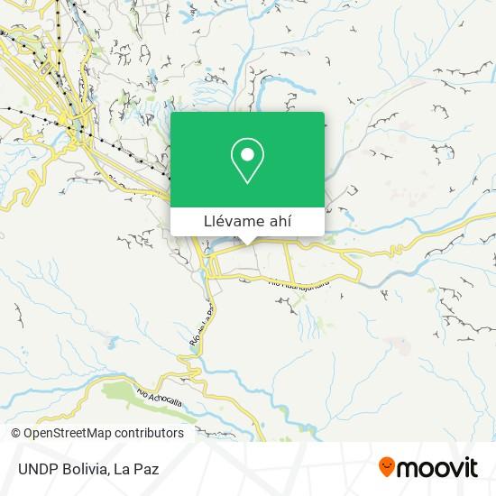 Mapa de UNDP Bolivia