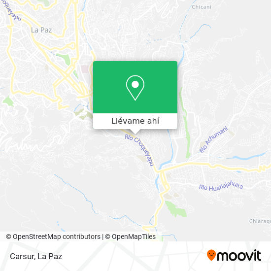 Mapa de Carsur