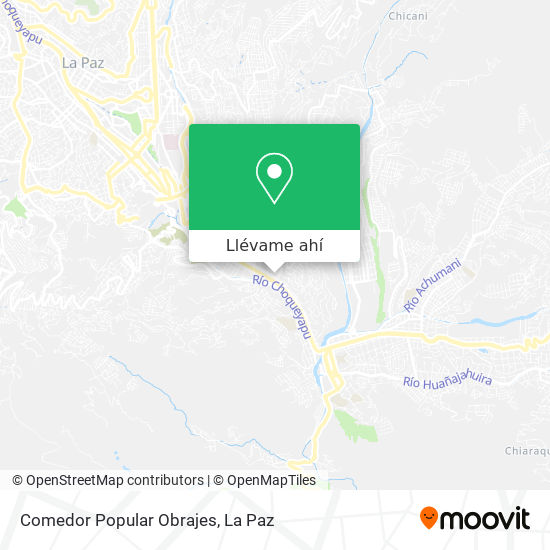 Mapa de Comedor Popular Obrajes