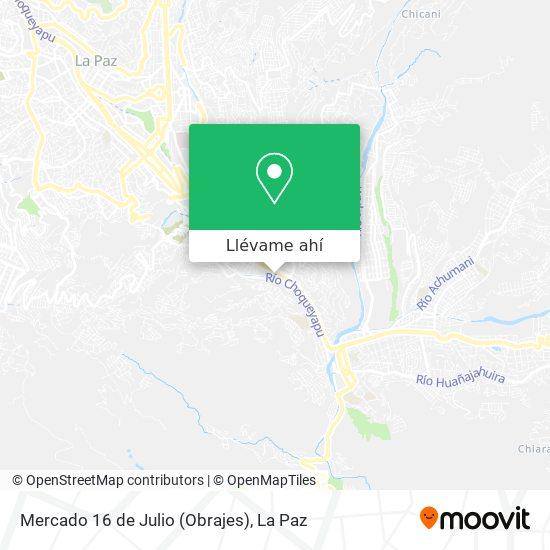 Mapa de Mercado 16 de Julio (Obrajes)
