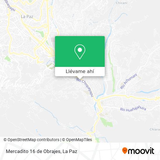 Mapa de Mercadito 16 de Obrajes