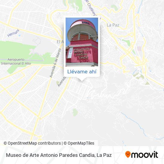 Mapa de Museo de Arte Antonio Paredes Candia