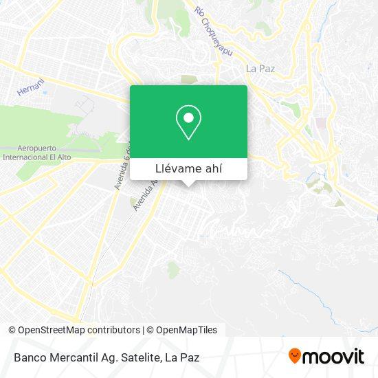 Mapa de Banco Mercantil Ag. Satelite