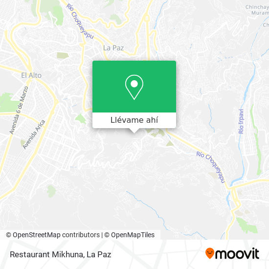 Mapa de Restaurant Mikhuna