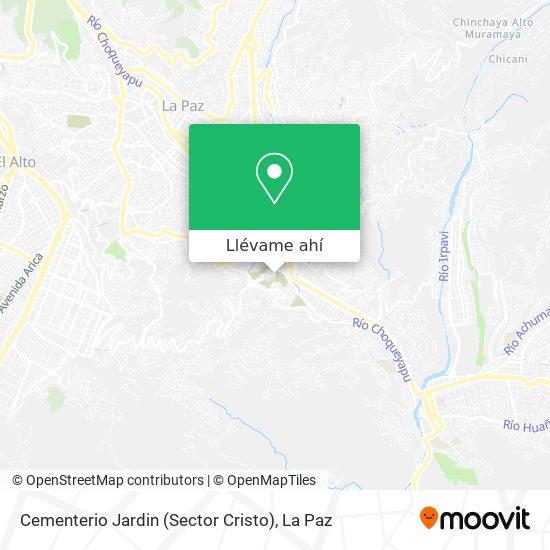 Mapa de Cementerio Jardin (Sector Cristo)