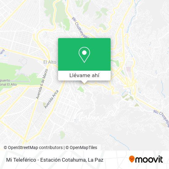 Mapa de Mi Teleférico - Estación Cotahuma
