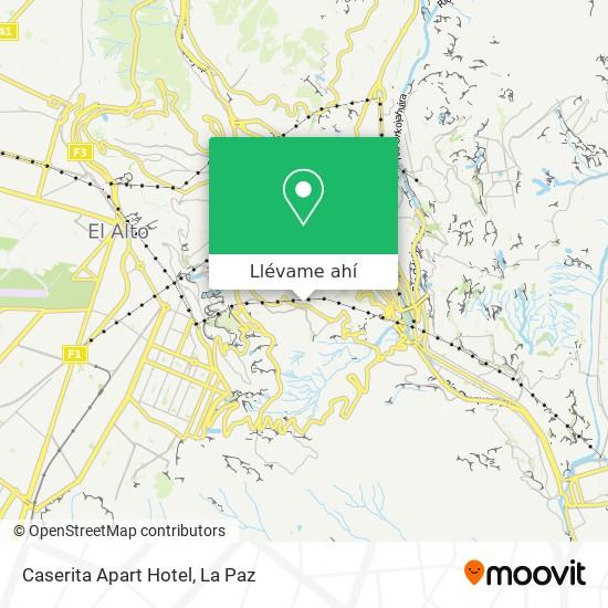 Mapa de Caserita Apart Hotel