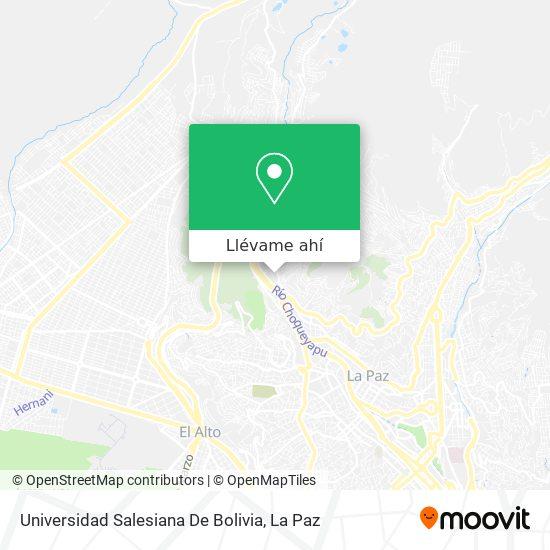 Mapa de Universidad Salesiana De Bolivia