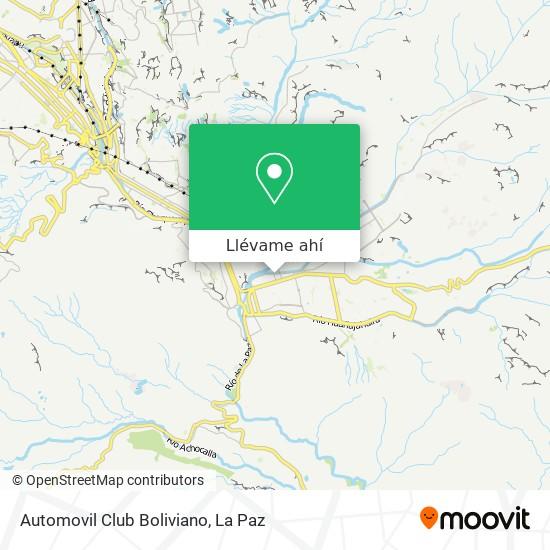 Mapa de Automovil Club Boliviano