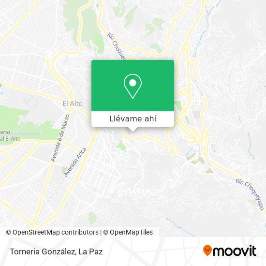 Mapa de Torneria González