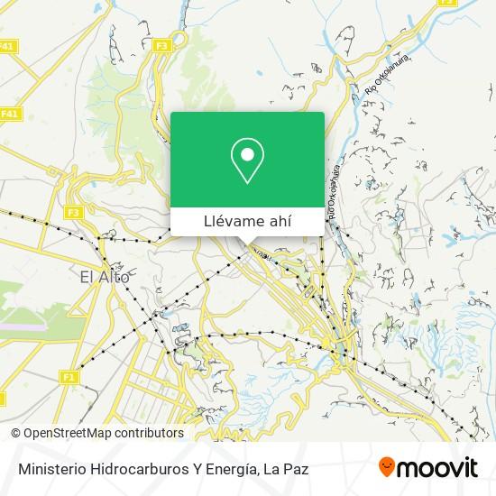 Mapa de Ministerio Hidrocarburos Y Energía